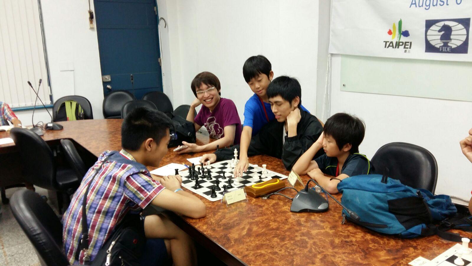 enjoying a game of chess