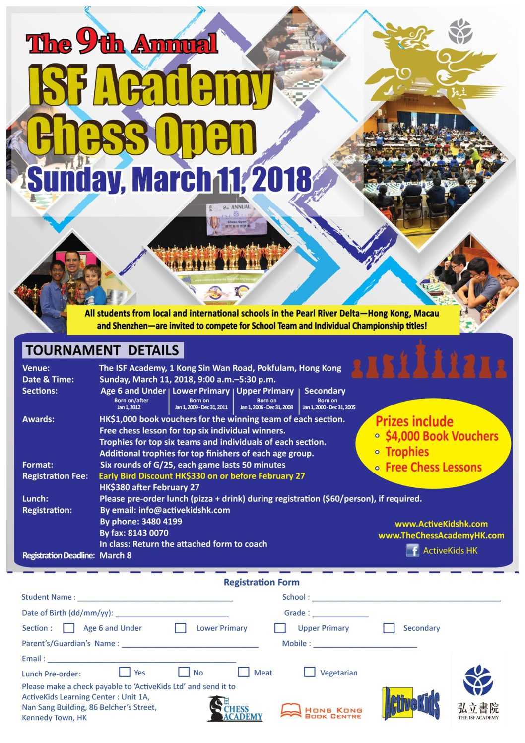 The 9th Annual ISF Academy Chess Open 2018